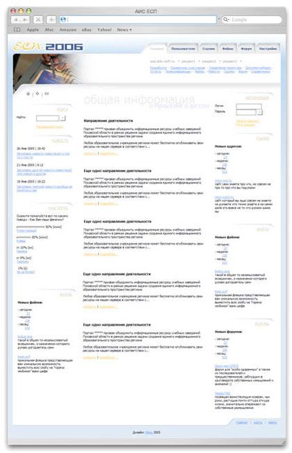 Сайт обеспечения опытной эксплуатации АИС ЕСП